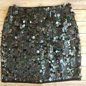 Elie Tahari Silk Sequined Skirt